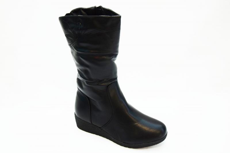 Сапоги F713 черн