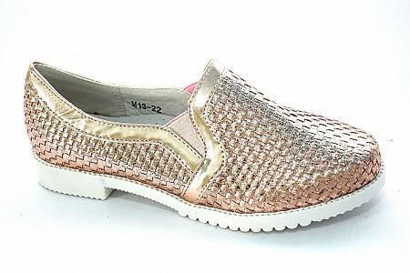 Туфли М13-22 розовое золото