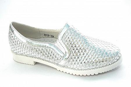 Туфли М13-19 серебро